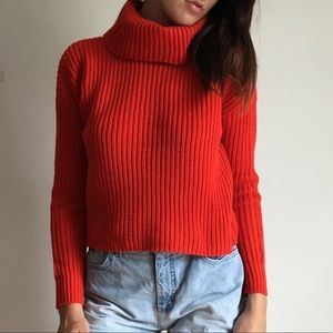 🆕 Forever 21 | Red Turtle Neck Cropped Sweater